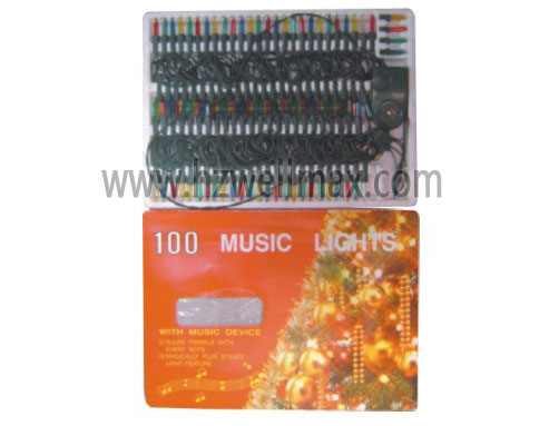 100pcs christmas lights 2 way flash 3 music polyfoam box